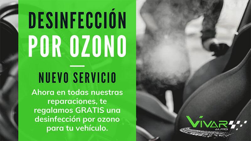 Desinfección de coches por ozono